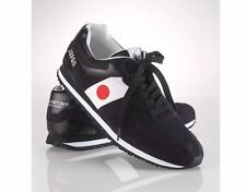 Polo Ralph Lauren Sport Slaton Black Flag Japan 8.5 Sneakers, Running Shoes New
