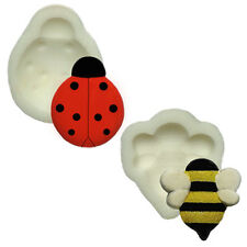 Silicone Moulds - Set Of Two - Honey Bee & Lady Bird - Food Safe