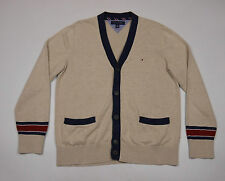 Tommy Hilfiger Men's Beige long sleeved Button Front Cardigan Size Large