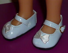"White Bow Mary Jane Shoes 50mm fits Kish 14"" Piper and Little Darling Dolls"