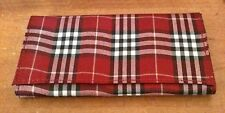 """Kingstar Scotch Plaid Burgundy 6"""" Lined Pipe Tobacco Pouch"""