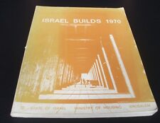 ISRAEL BUILDS 1970, INTERDISCIPLINARY PLANNING. Housing. Architecture.Book.