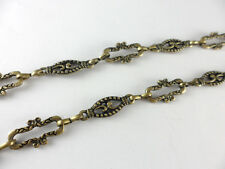 50 inches Antique Brass Plated Fancy Long Connector Chain Findings 40410