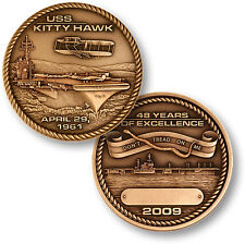 USS Kitty Hawk Decommissioning Challenge Coin CV-63 US Navy Aircraft Carrier