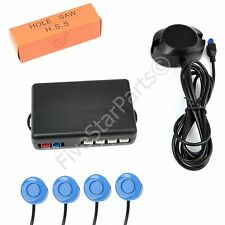 Reverse rear parking sensors KIT (4) with Buzzer audio alarm LIGHT BLUE