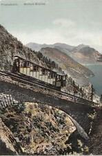 PILATUSBAHN WOLFORT - BRUCKE SWITZERLAND TRAIN RAILROAD POSTCARD (c. 1910)
