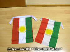 Fahnen Flagge Flaggenkette Kurdistan 6 Meter Lang