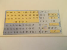 1989 The Bangles Concert Ticket Stub  SK3