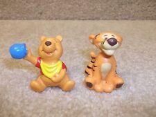 Vintage Disney World PVC Winnie the Pooh & Tigger Figure Cake Topper Lot