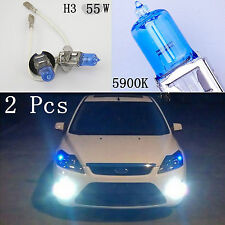 2 X H3 Super Bright White Light Lamp Auto Car Halogen Bulb Headlight 12V 55W New