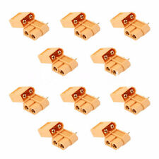 10Pcs XT60 Bullet Connector Plugs Male / Female RC Lipo 3 Pairs Connector 2016