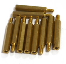 10 pcs M3 x 25mm Brass Hex Standoff Pillar Male - Female with nut Hot Sale