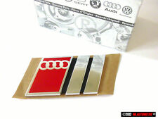 Audi S2 Genuine Audi Rear Boot Badge Chrome Red Nos