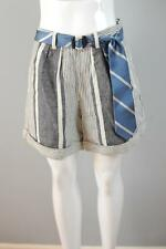 KOTO BOLOFO Sz 4 [G18] Anthropologie $130 High Waist Bandes Shorts Tie Belt