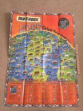 2000 Factory Matchbox Car Poster Huge 36x26 all 100 cars for each years