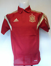 SPAIN RED CLIMALITE POLO SHIRT BY ADIDAS SIZE ADULTS LARGE BRAND NEW WITH TAGS