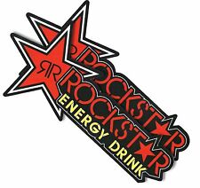 "11""X2P. RED ROCKSTAR ENERGY DRINK DECAL STICKER PRINTED DIE-CUT AUTO MOTOR SPORT"