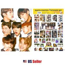 KPOP BTS A3 Official Photo Poster+Sticker Set Various 12 Sheets Bromide (ver.10)