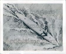 1958 Artist Conception Overhead View of a US Navy Atomic Submarine Press Photo