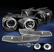 1998-2001 ACURA INTEGRA HALO BLACK PROJECTOR HEAD LIGHTS+BUMPER SIGNAL 1999 2000