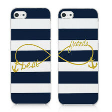 Best Friends Infinity with Anchor For iPhone 5 5S SE Cover Set Of Two (2) Case