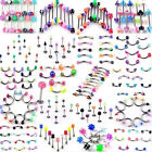 110X Wholesale Bulk lots Body Piercing Eyebrow Jewelry Belly Tongue Bar Ring US