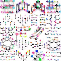 110X Wholesale Bulk lots Body Piercing Eyebrow Jewelry Belly Tongue Bar Ring JF