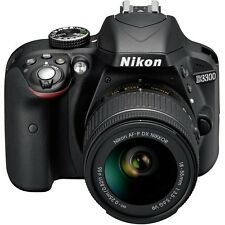 Nikon D3300 DSLR Camera with AF-P 18-55mm VR Lens (Black)