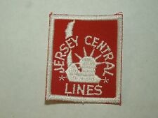 Vintage Jersey Central Lines Sew On Patch-Statue of Liberty Logo- Railroad Train
