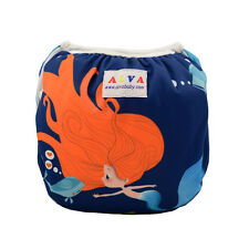 AlvaBaby New Swim Diaper waterproof&comfortable&breathable printed with snaps