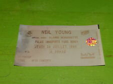NEIL YOUNG - PARIS 1996 !!! TICKET CONCERT!!!!TICKET STUB !!!!!!!!!!!