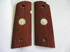 New Wood Grip c Medallion For 1911 Colt Officer Compact Kimber Clones Remington