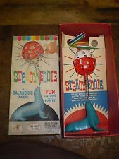 VINTAGE 1962 STEADY EDDIE BALANCING GAME BY MILTON BRADLY IN ORIG. BOX MB 4214