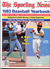 The Sporting News 1983 Baseball Yearbook Yount Ozzie Smith EX NO ML 120515jhe