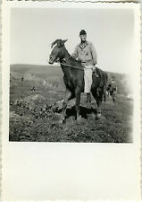 PHOTO ANCIENNE - VINTAGE SNAPSHOT - ANIMAL CHEVAL MAGHREB MILITAIRE - HORSE