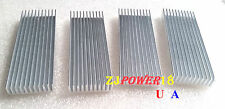 4pcs 100*35*10mm Silver Aluminum Heat Sink for LED and Power IC Transistor