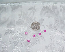 BARBIE ACCESSORY LOT  5 MINIATURE CLASSIC PINK DICE DIE FOR GAMES 1/6 LITTLES