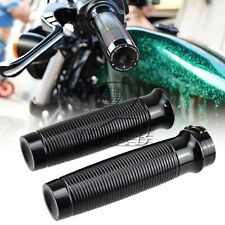 Custom Black Rough Crafts CNC Handlebar Grips F Harley Sportster 883 XL1200 48