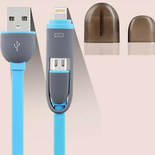 Flat Noodles Micro USB Sync Data Cable Charging Cable for iphone Android Phone