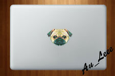 Macbook Air Pro Skin Sticker Decal - Pug Dog Abstract Animal   #CMAC071