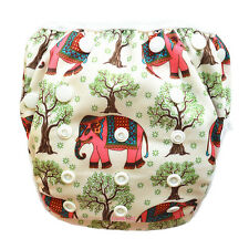 1 Elephant Tree Swim Diaper Nappy Pants Adjuatable Reusable Infant Baby Toddler