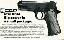 1974 small Print Ad of Garcia Star BKS Starlight 9mm Pistol