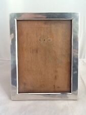 "Large Antique Silver Photo Picture Frame With Oak Back 9 1/4"" X 7 1/4""-Birm 1906"