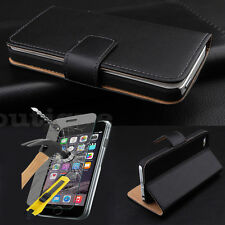 Cellboutique slim cover slim etui en cuir pour iPhone 5 5S libre verre trempé