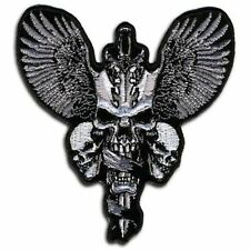 SKULL & DAGGERS Embroidered Biker Motorcycle MC Club Vest BACK PATCH! LRG-0061