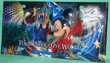 DISNEY WORLD SORCERER MICKEY 4 PARKS ONE WORLD COLLECTIBLE LICENSE PLATE NEW