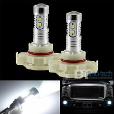 2X H16 1200LM 6000K 2323 Chip White High Power LED Projector Fog Lights Lamp