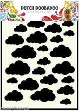 A5 Dutch Doobadoo Mask - Clouds - Stencil - Embossing - 029 - New Out