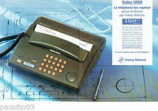 PUBLICITE ADVERTISING 125  1993  FRANCE TELECOM téléphone-fax-copieur (2p) Galéo