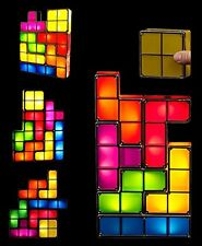 Tetris Desk Table LED Lamp, Premium DIY Puzzle Stackable Game Style Funny Light